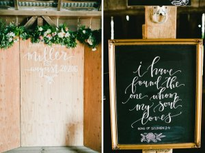 rustic wedding diy signage