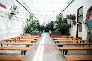 the valentine, one of our unique los angeles wedding venues, has a beautiful courtyard