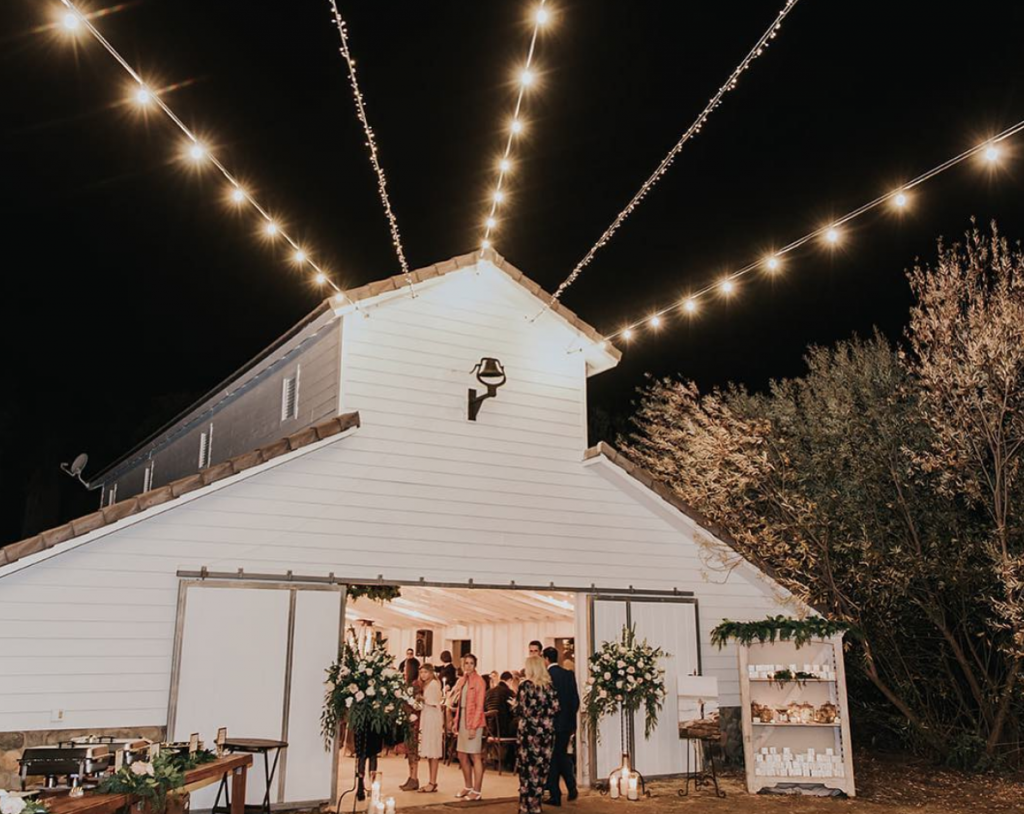 white winter barn is the last for our temecula wedding venues list