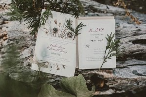 woodland wedding invitation examples