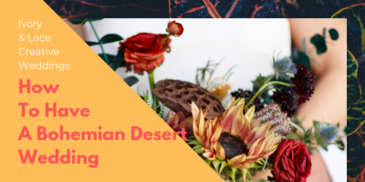how to have a bohemian desert junkyard wedding