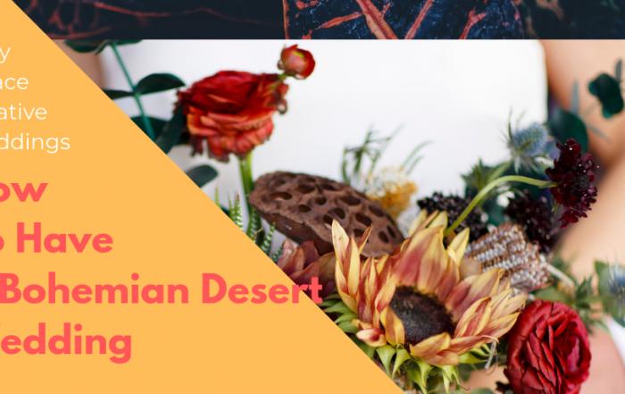 how to have a bohemian desert junkyard wedding