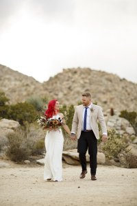 bohemian desert wedding suit