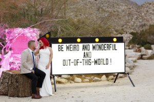 fun wedding signage