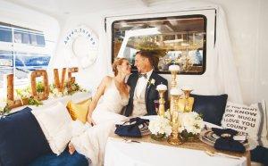 wedding reception on the Adventuress