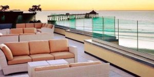 amazing balcony used for wedding ceremonies and receptions at the pier south resort