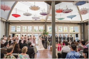 beautiful umbrella ceremony room at the lafayette hotel in san diego