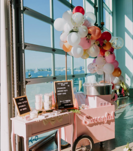 cotton candy cart from swoonful